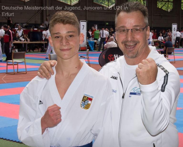 Alessandro trumpft auf der Deutschen Meisterschaft der Jugend, Junioren, U21 in Erfurt auf