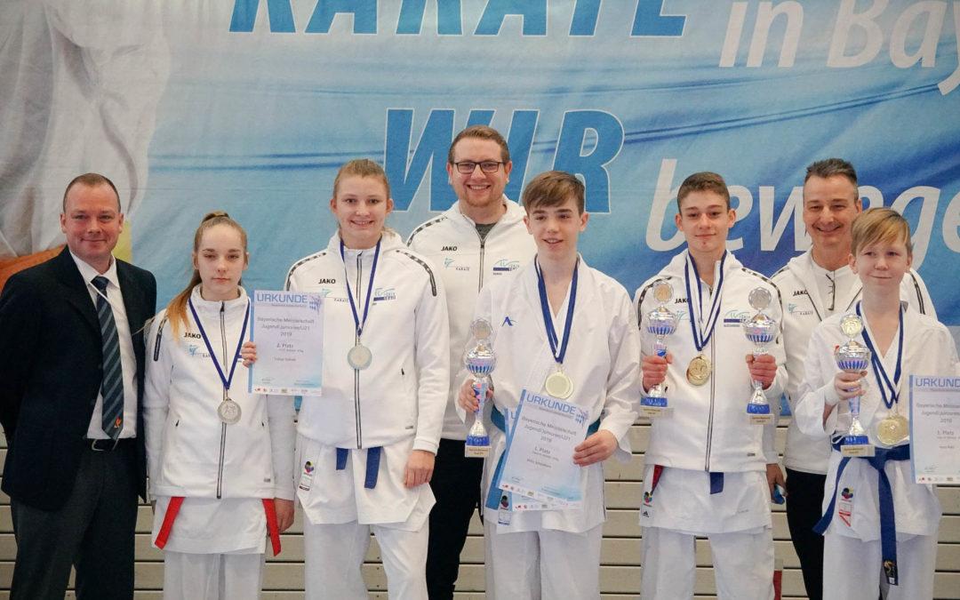 Platz 2 im Medaillenspiegel bei den Bayerischen Meisterschaften 2019